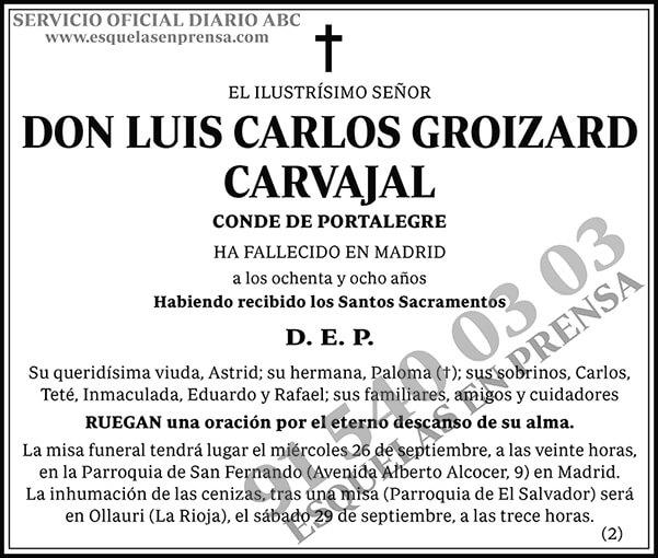 Luis Carlos Groizard Carvajal